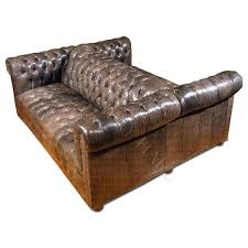 double sided leather sofa