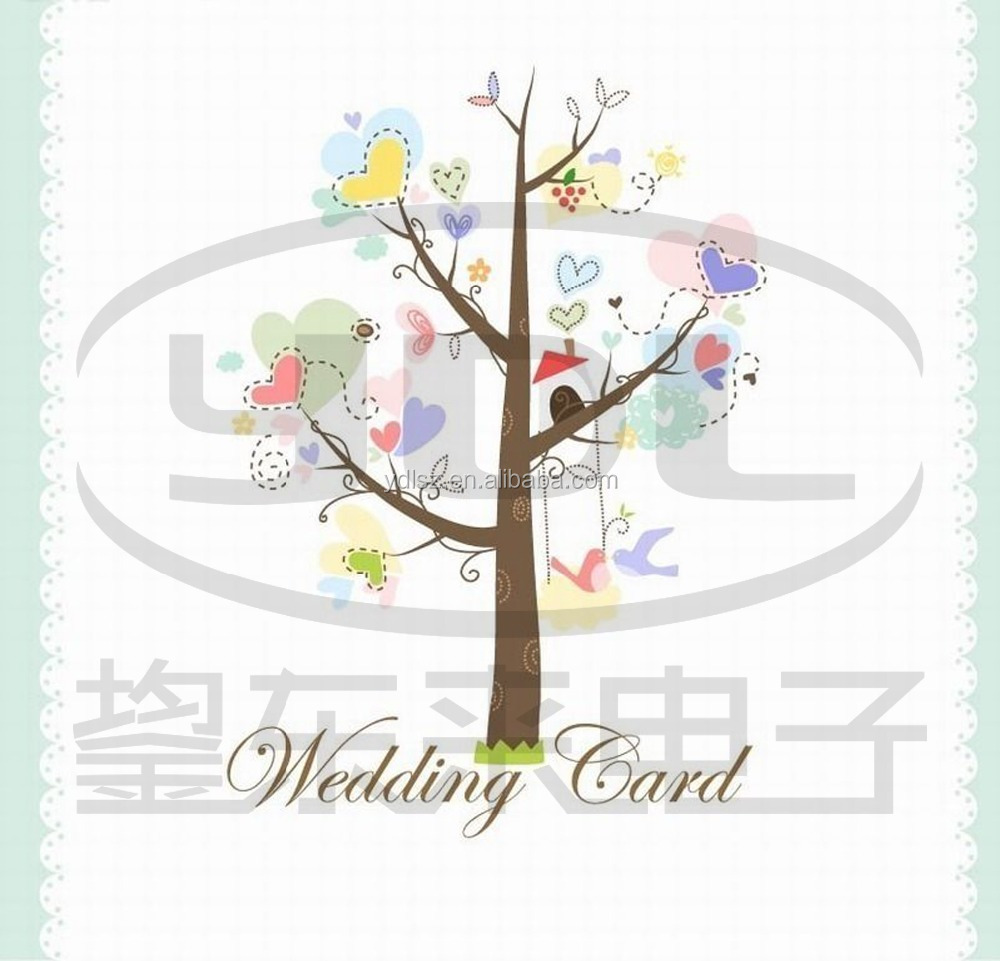 Multi Design Music Paper Greeting Cards Wedding Invitation Cards