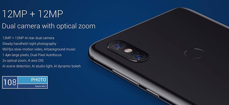 Global version xiaomi full screen slider mi mix 3 snapdragon 845 6gb ram  128gb xaomi phones mobile smartphone android, View smartphone android,  Xiaomi