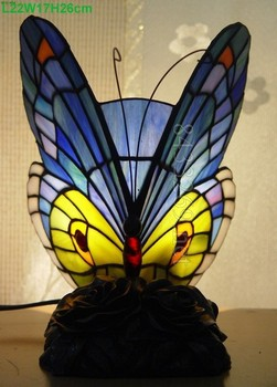 Best Sales For Tiffany Stained Glass Table Lamp In Design Of Butterfly With  100% Hand