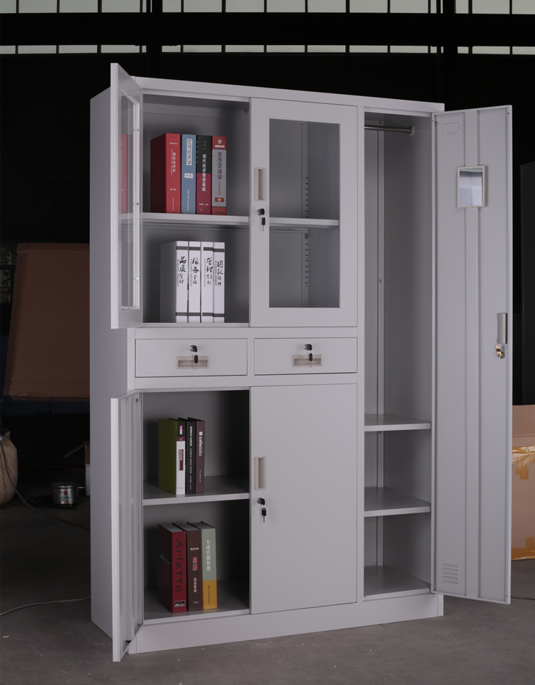 Wooden almirah design metal book cabinet living room for Room wooden almirah designs