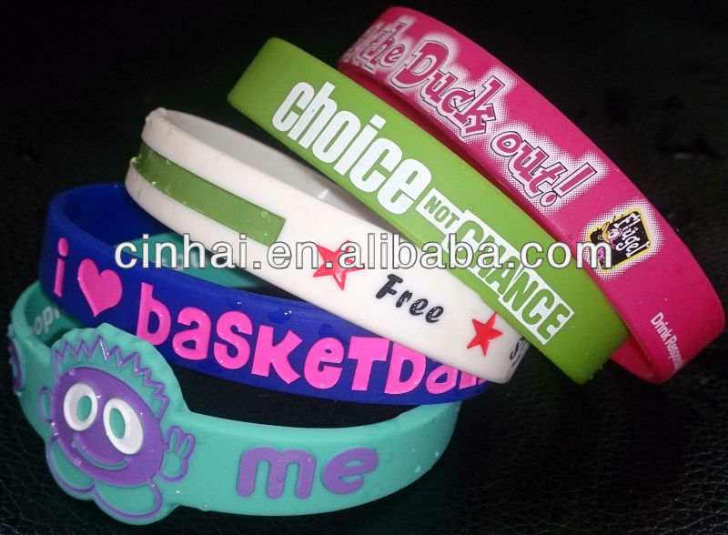 custom silicone baller bracelet in very high quality