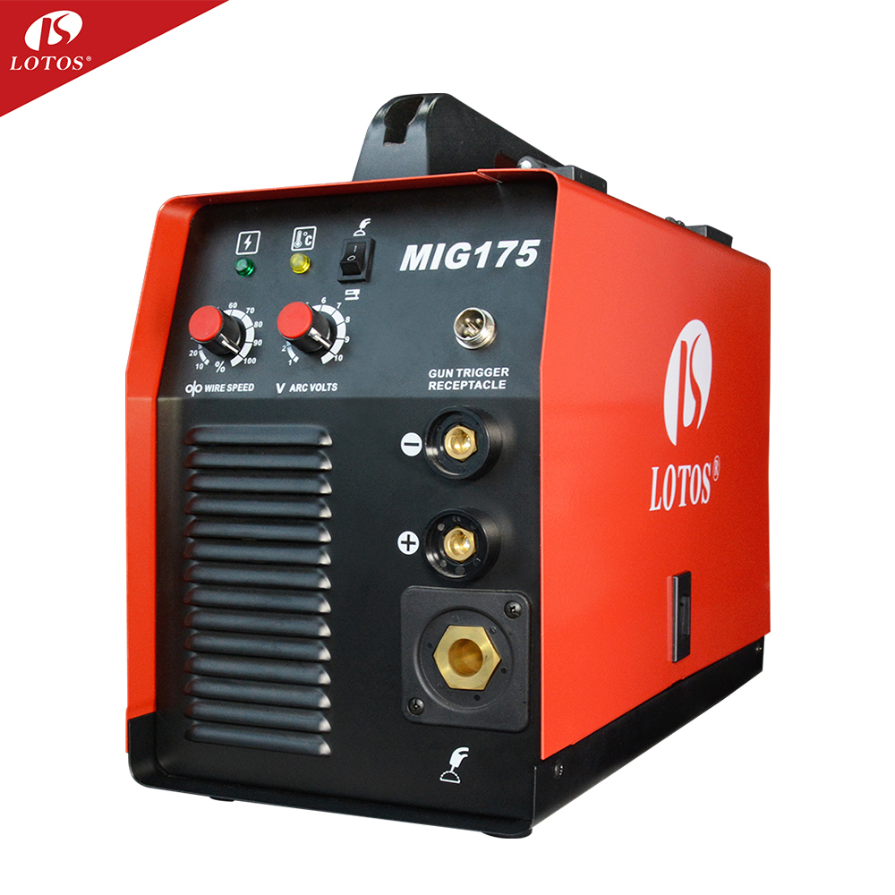 LOTOS MIG175 small welder mig welding machine price with flux cored wire feeder