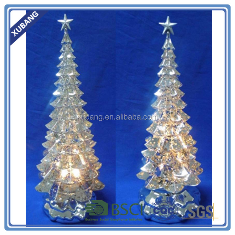 Acrylic material christmas tree with LR44 button battery and color LED light change
