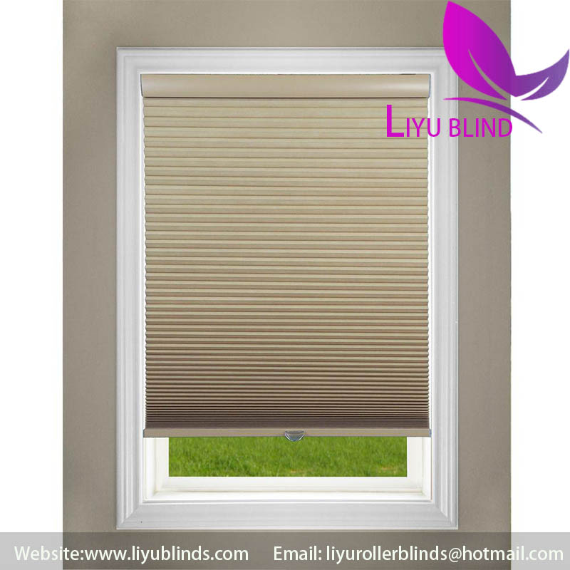 Liyu cellular honeycomb roller motorized balcony sun shades
