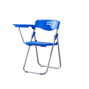 Philippines cheap comfortable Plastic Shell school student study Folding chairs with hard plastic writing pad price