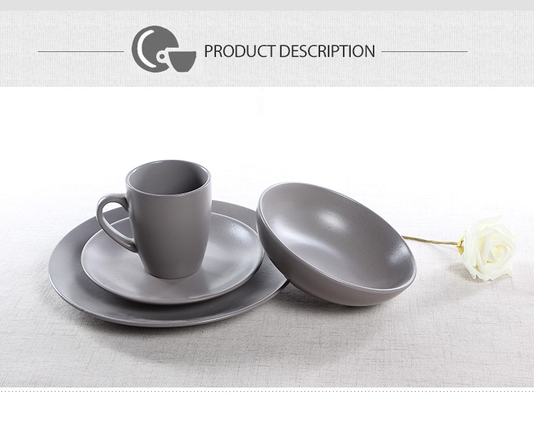 matt black ceramic dinnerware set