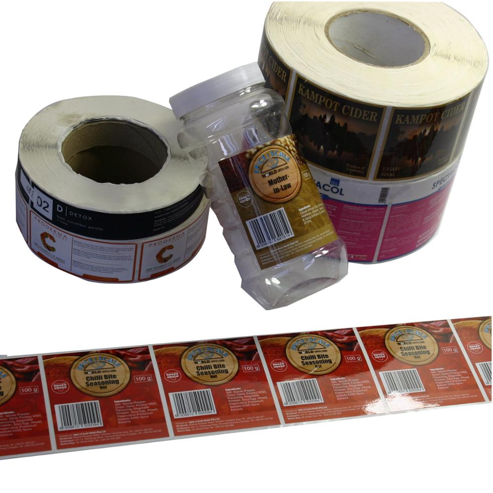 Printing food label sticker mass production for food packaging