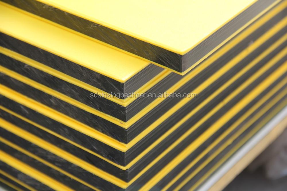 sandwich 3 schicht kunststoff blatt hdpe doppel farbe kunststoffplatte bunte hdpe folie buy. Black Bedroom Furniture Sets. Home Design Ideas