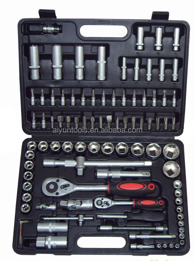"94pcs socket set (1/2"" & 1/4""), ratchet wrench CRV repair <strong>tools</strong>"