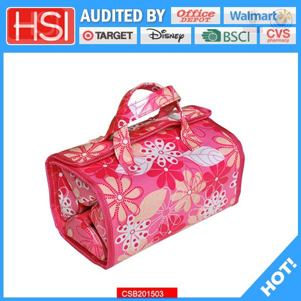 BSCI factory price famous brand pvc cosmetic bag