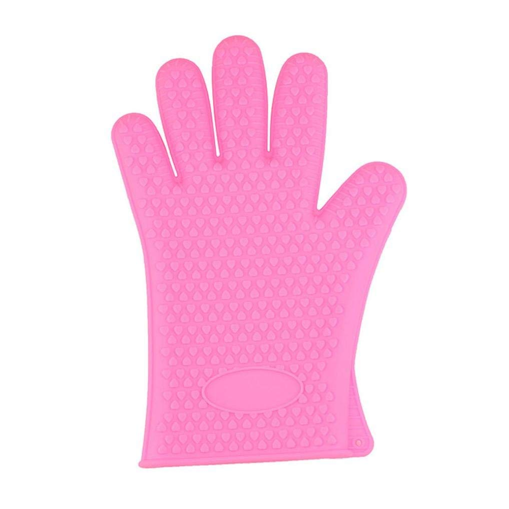 Binmer(TM) Kitchen Heat Resistant Silicone Glove Oven Pot Holder Baking BBQ Cooking Mitt (Pink)