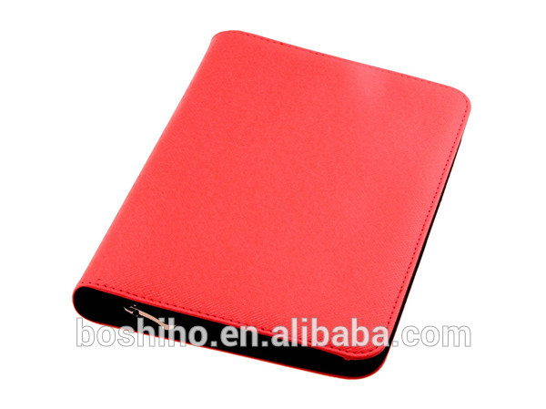 Customized design genuine leather portfolio women portfolio tablet case holder notebook