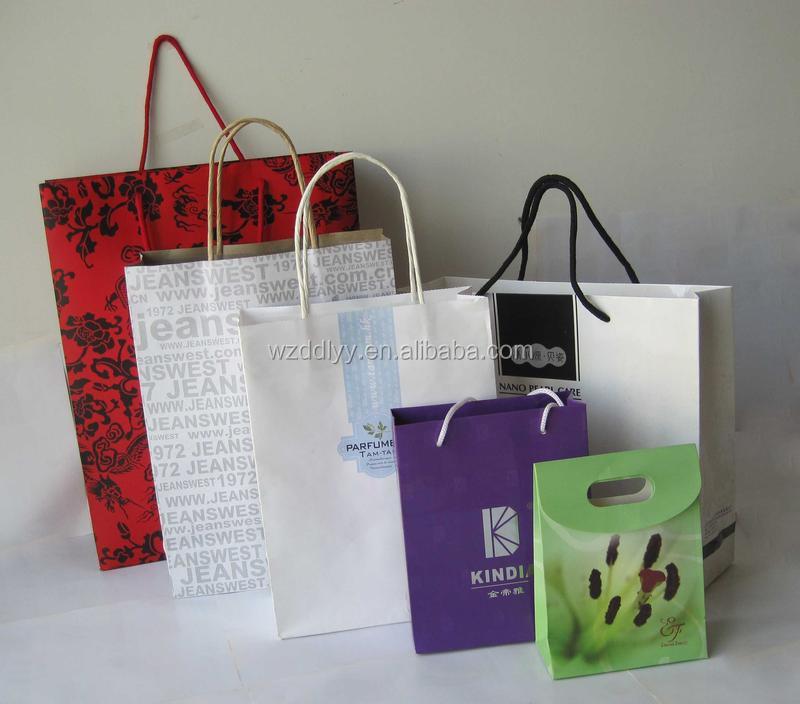 Custom printed paper grocery bags