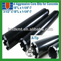 "1-1/2""*14""*5/8-11 v-tip 30% faster drilling core bits for concrete"