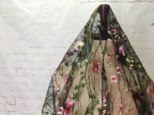 Французский Тюль многоцветная водяная трава вышивка кружева ткани африканская 3D цветочные DIY вышитые свадебные платья ткань(Китай)