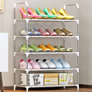 Non-woven Fabric Shoes Rack Dormitory Home Storage Shelves Organizer DIY 5 Layers Shoe Cabinet & Non-woven Fabric Shoes Rack Dormitory Home Storage Shelves Organizer ...