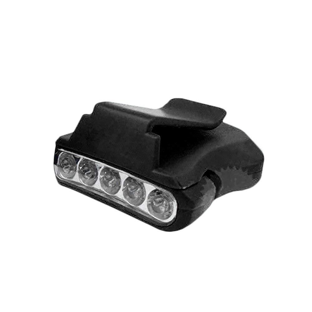 eroute66 5LED Headlamp Cap Light Fishing Camping Clip-on Hiking Hat Head Lamp Lantern