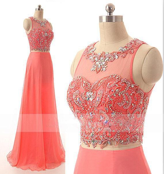159e7324b4a Get Quotations · MANSA Robe De Soiree 2015 Elegant Long Chiffon Evening  Dress Sexy Crystal Beaded Prom Dress Custom