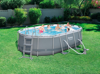 16ft X10ftx42in Steel Frame Oval Pool Set,Oval Above Ground Swimming ...