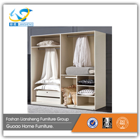 New collection wardrobe frame modern high quality simple white wooden glossy D3304 +DF3302