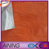 Recyclable Washable PE Tarpaulin Easy to Handle / PE Tarps / Silvery Orange Tarpaulin Sheet
