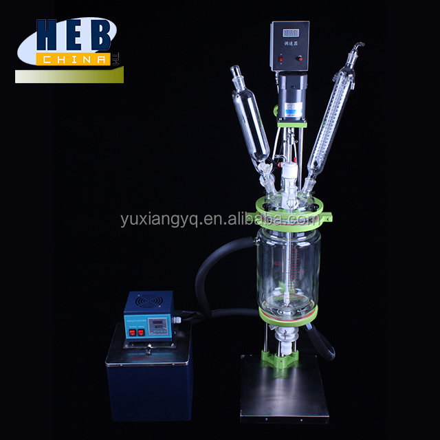 3L Laboratory Jacketed Batch Glass Reactor with rectification column system