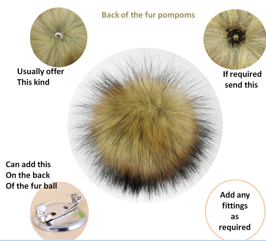 2020 Plush Fox fur ball for ornament  key garment accessories mobile phone