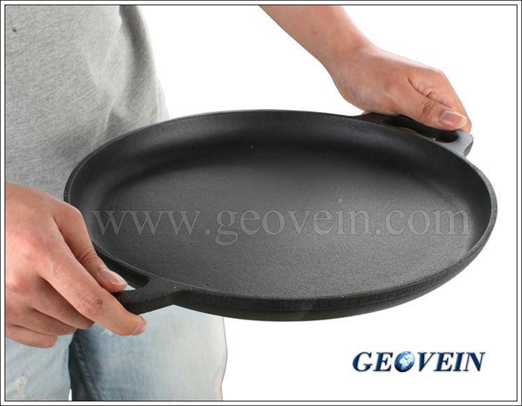 Ghisa piastra piana e liscia rotonda condito piano cottura - Piastra refrattaria per forno casalingo ...
