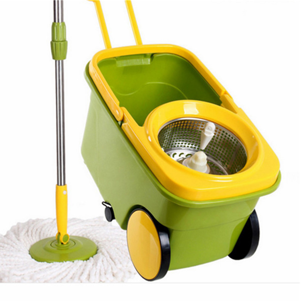 2014 New Apple Green Mop Bucket Qvc Spin Mop 360 Cyclone