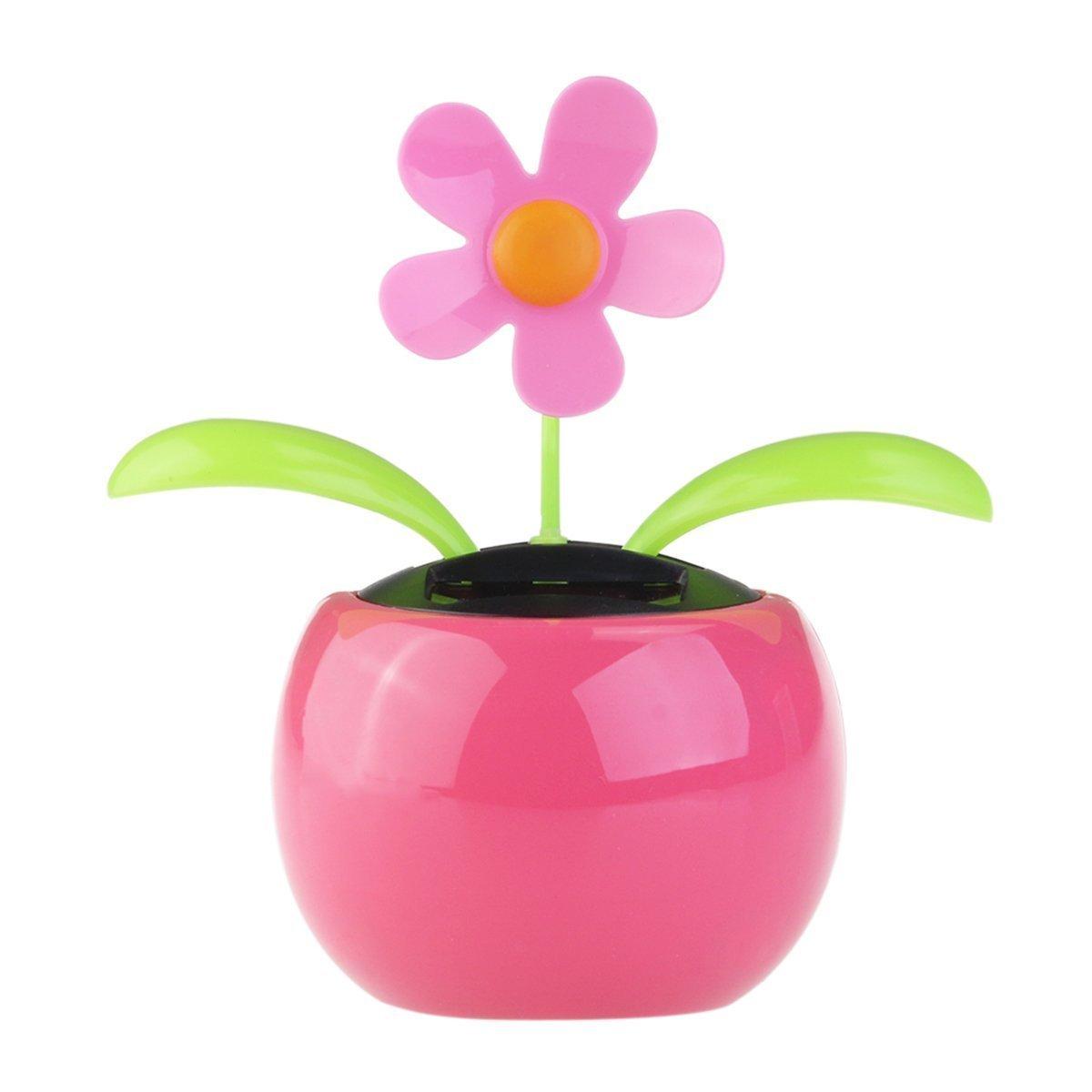 0b175459be59d9 Get Quotations · BinaryABC Flip Flap Moving Dancing Solar Power Flower  Flowerpot Swing Solar Car Toy(Random Color