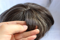 Hot High Quality Wholesale Indian Remy Human Hair Gray Hair Mens Toupee