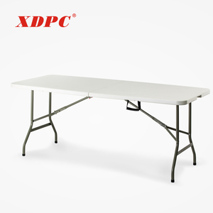 korean custom portable multi purpose 8-foot long canteen balcony beach beer garden folding dinging table set