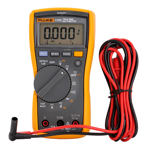 Fluke 117/industrial true-RMS HVAC digital multimeter with temperature F117/ multimeter digital display china supplier wholesale