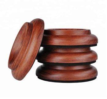 Dedo Wooden Caster Cups Solid Wood