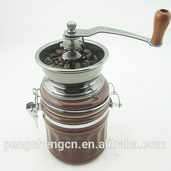 professional coffee bean mill portable manual coffee grinder with ceramic grinding heart