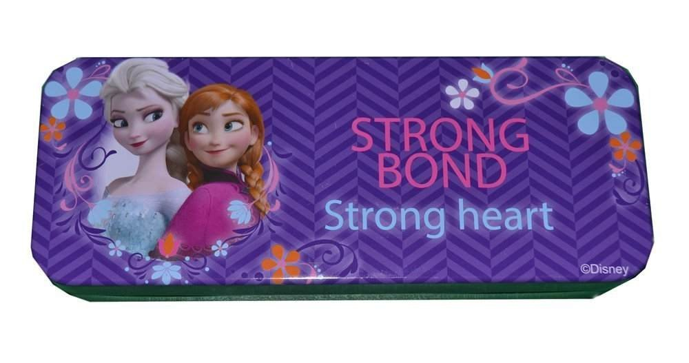 """Best Frozen Tin Pencil Box - Frozen Elsa and Anna Sisters Pencil Box. From the Hit Movie Frozen. Tin Pencil Boxes Make Great Gifts As They Help Kids Practice Organization Skills (Purple """"Strong Bond"""" Anna&Elsa)"""