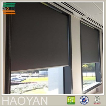 haoyan roller polyester one way window blinds buy one. Black Bedroom Furniture Sets. Home Design Ideas