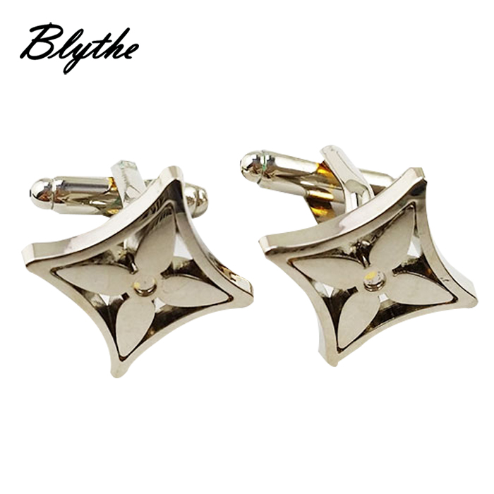 Customized design wholesale silver decorative metal cufflinks