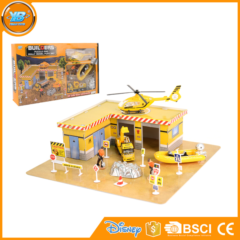 Yibao cheap kids educational diy construction playset with building accessories