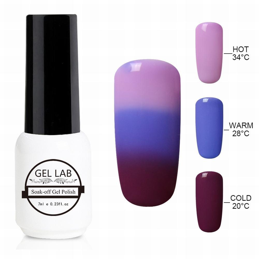 GEL LAB 7ml Chameleon 3 Way Tri-Color Temperature Changing Color Nail Lacquers Soak Off UV LED Gel Polish TC4220
