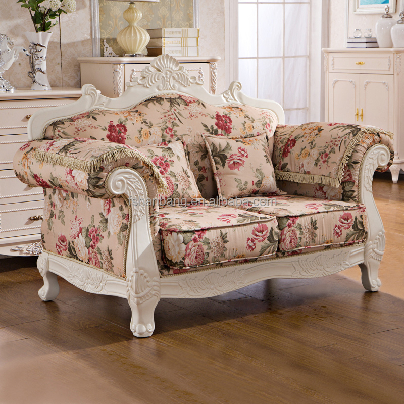 royal french provincial fabric upholstered wooden living