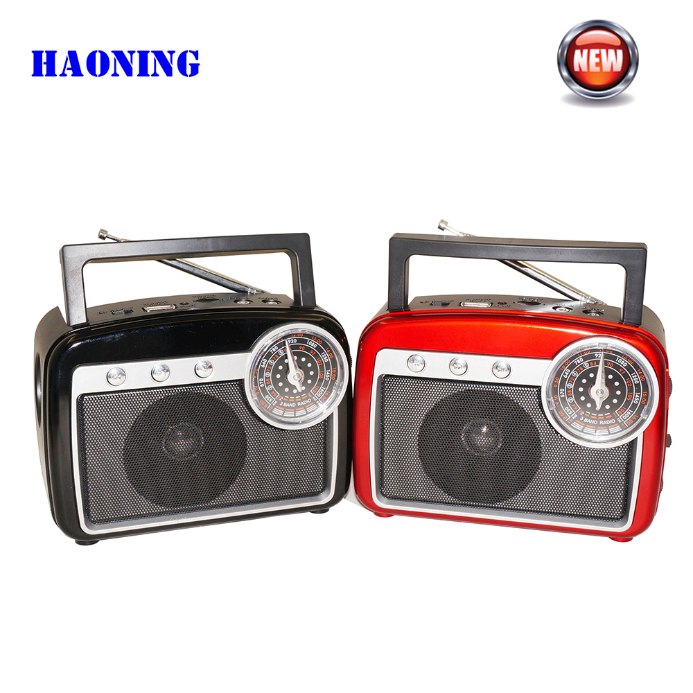 Venda quente Retro FM / AM / SW Radio Player Com Lanterna USB TF