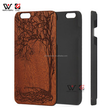 Factory price mobile accessories laser engraving custom design plastic wooden cell phone wood case for iPhone 7Plus