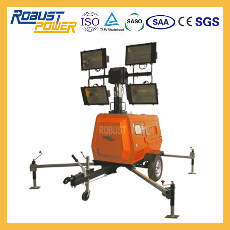 Portable Light Tower for Road Safety Construction Site Mining Feild Working Site