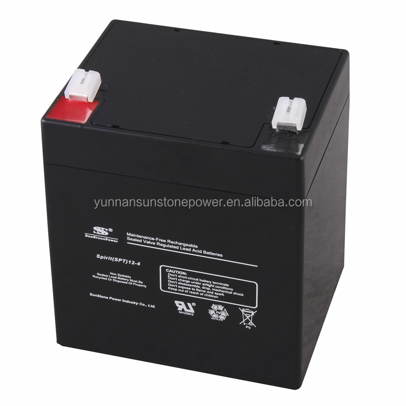 Sealed lead acid battery 12v 4ah rechargeable battery AGM lead acid battery