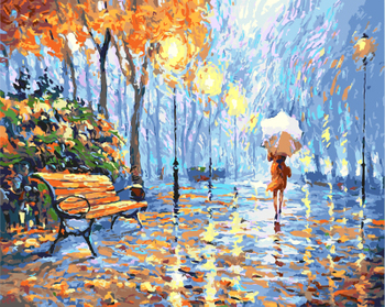 Gx9931 40 50 Yiwu Factory Wholesale Sgs Beautiful Girl Walking Alone In A Peaceful Full Of Maple Leaves Path Oil Painting Buy Beautiful Girl Oil