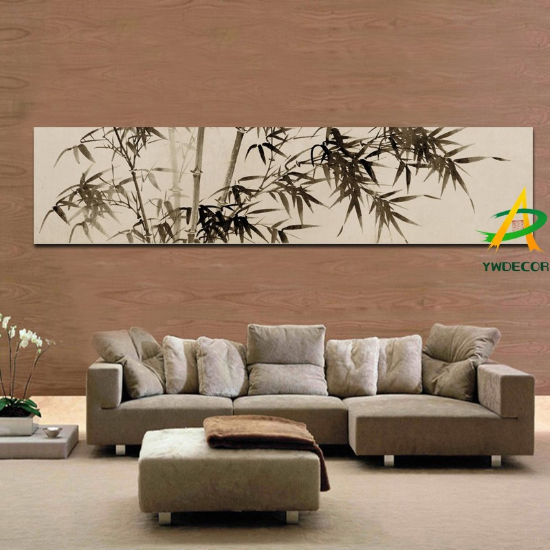 Digital Impreso Tradicional Chino Bambú Pintura Al Óleo Impresiones ...