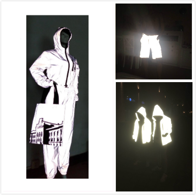 good quality high light reflective materials color fabric for jacket / reflective backpack fabric