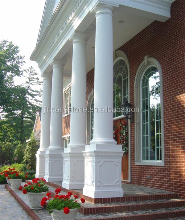 House Columns Product : Marble stone gate column building roman square